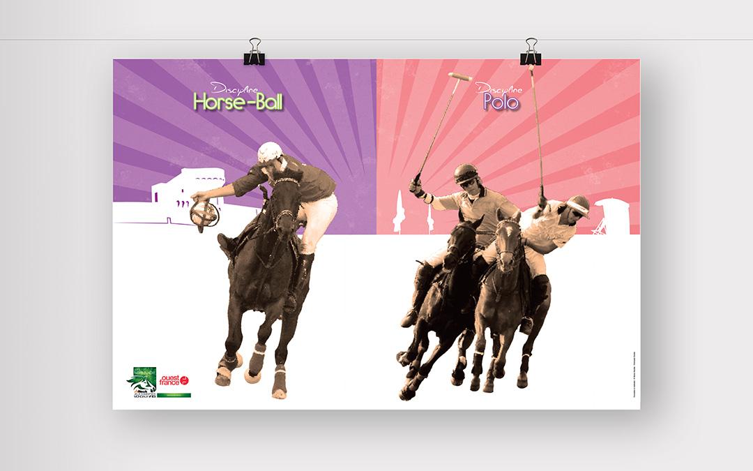 Affiche Horseball et Polo