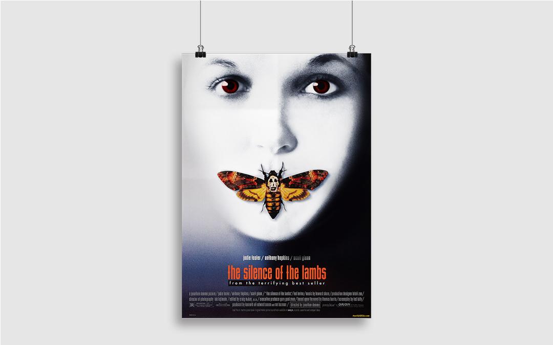 """Photomontage de l'affiche du """"Silence des Agneaux"""""""