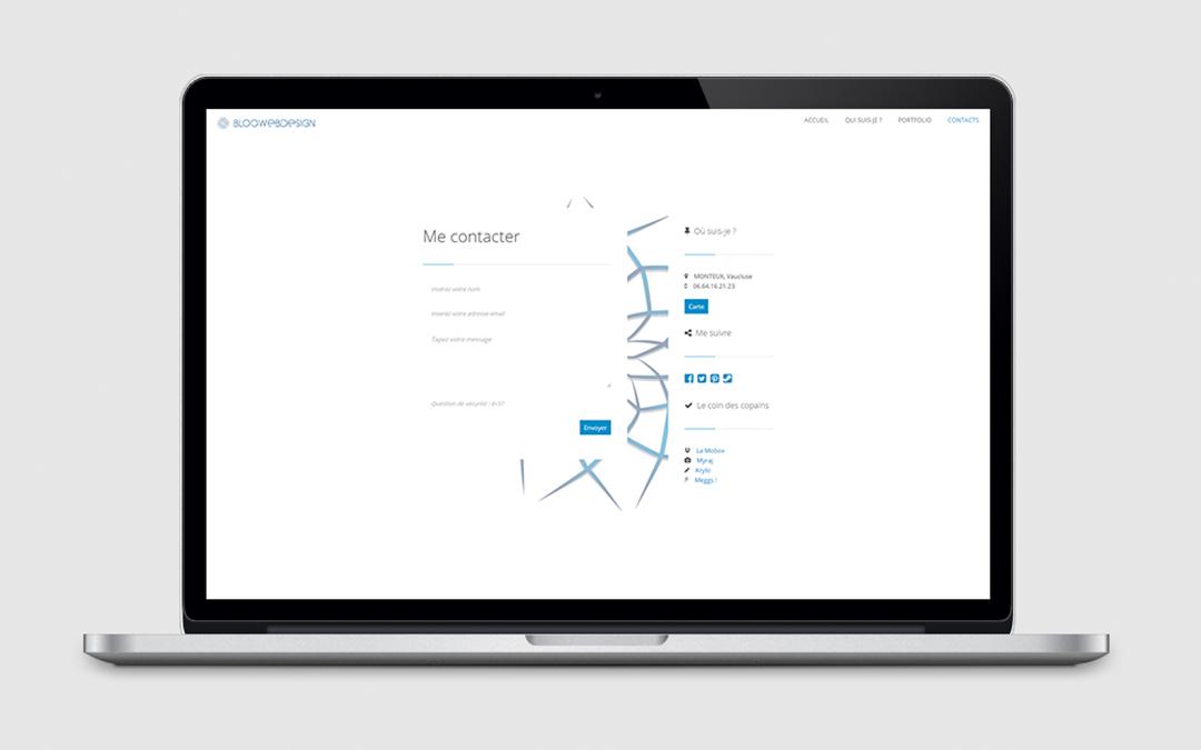 Page de contact de Bloowebdesign