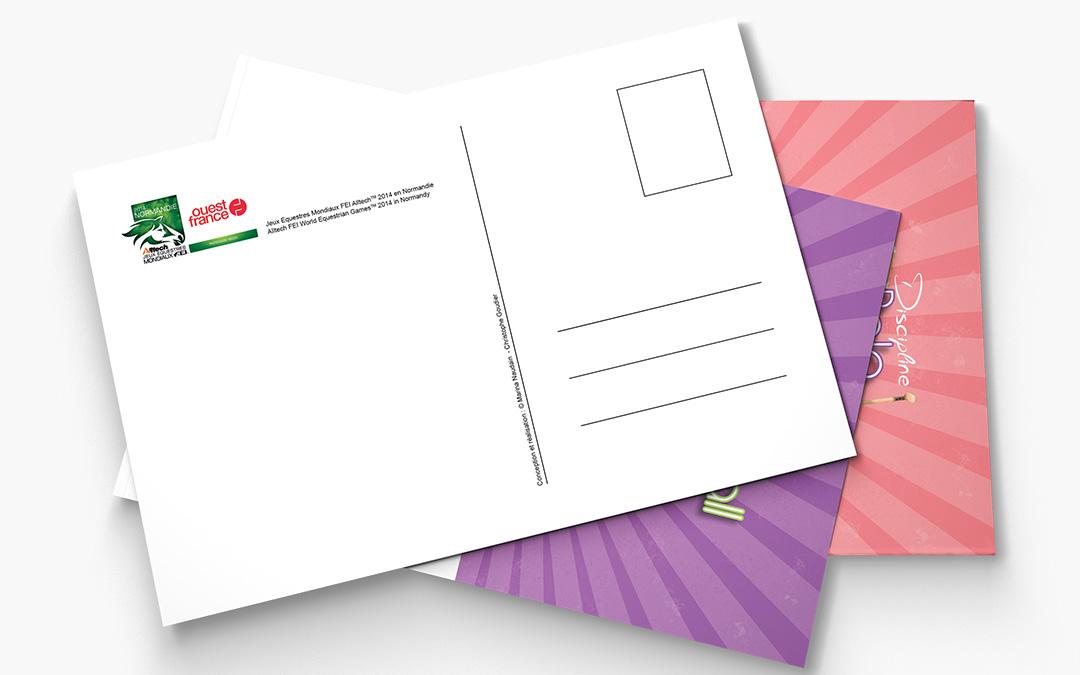 Cartes postales Jeux Équestres mondiaux