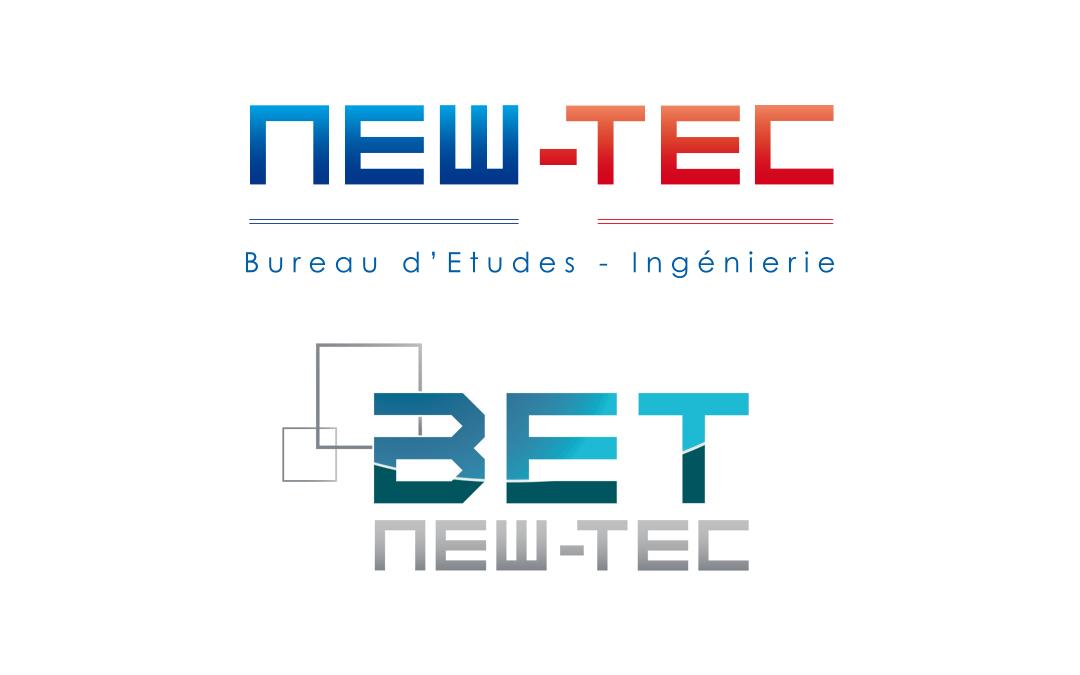 Comparatif des logos de NEW-TEC et sa filiale, BET NEW-TEC