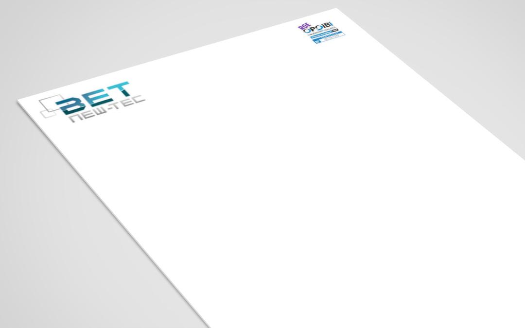 Papier à entête BET NEW-TEC